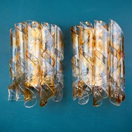 1 of 5 vintage murano wall lamp or sconce Italy 1970s Mid-century italian lighting