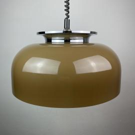 Mid-century pendant lamp Clear designer Luigi Massoni for Harvey Guzzini Meblo 1970s