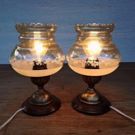 Two old lamps