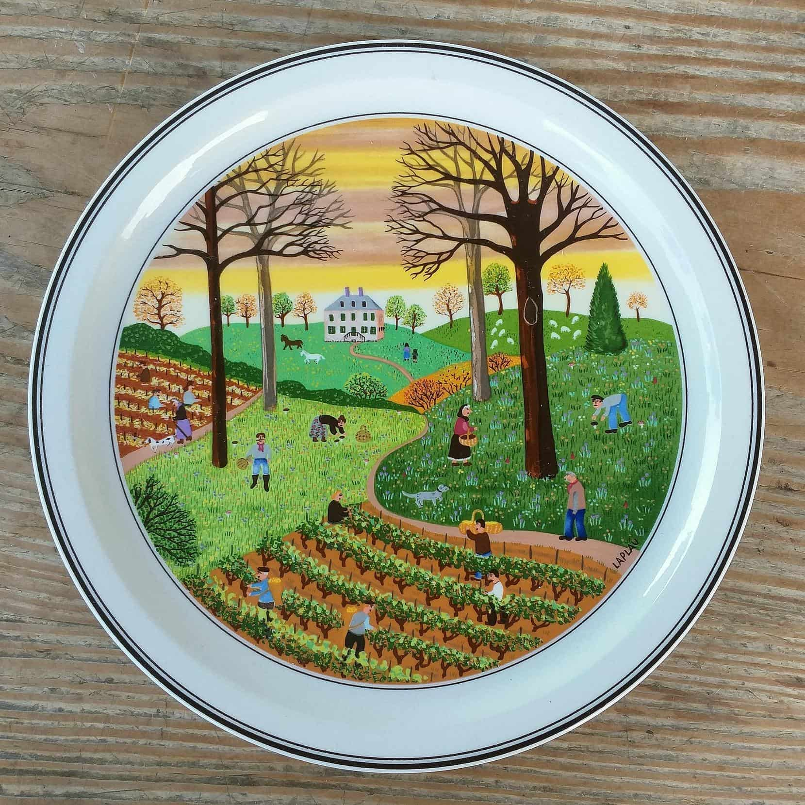 Decorative plate «Autumn» of Villeroy & Boch