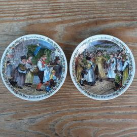 Old plates of the firm Seltmann Weiden