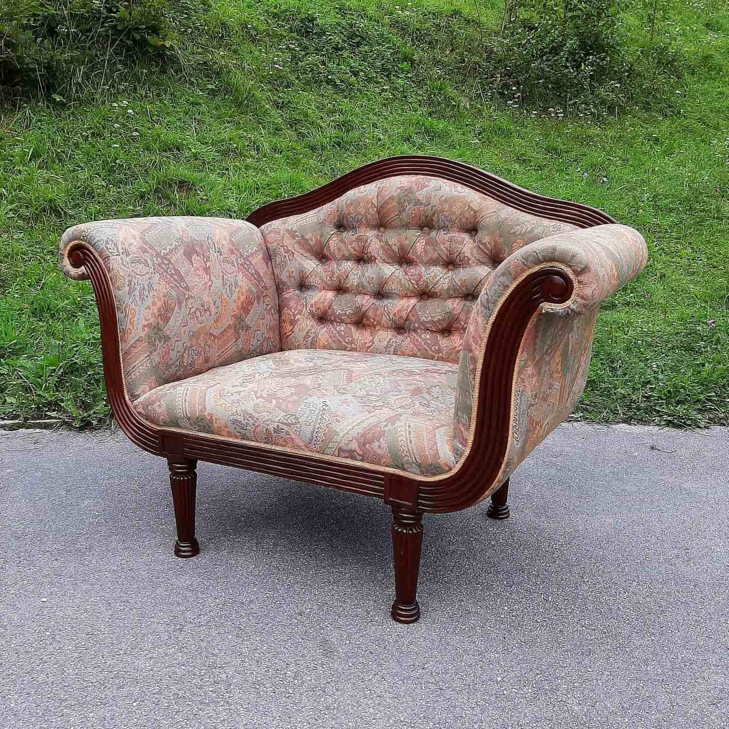 Elegant old armchair