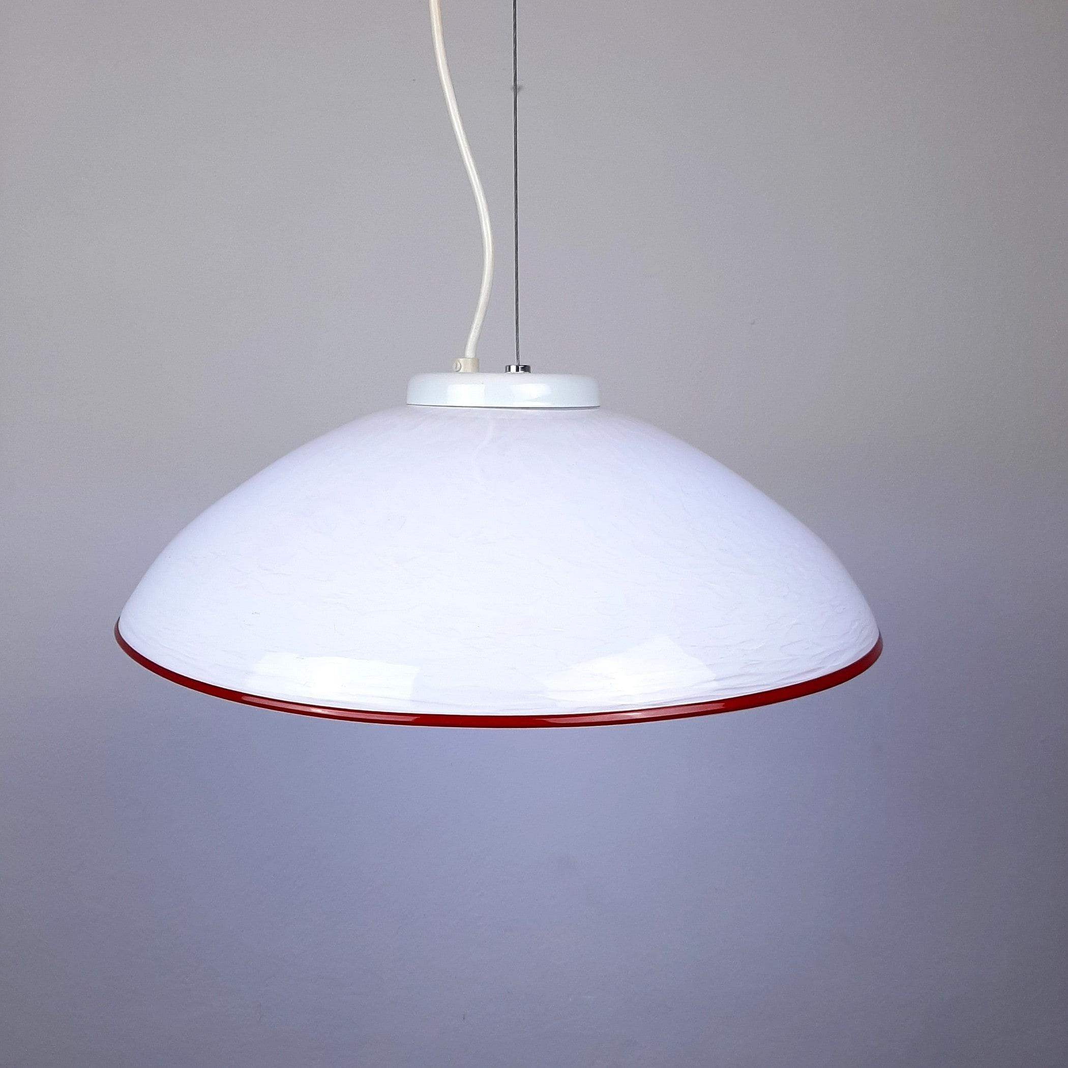 Vintage murano glass pendant lamp