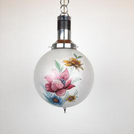 Vintage glass pendant lamp Flower Italy '60s